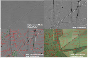 NMP transcriptions using a range of lidar-derived visualisations